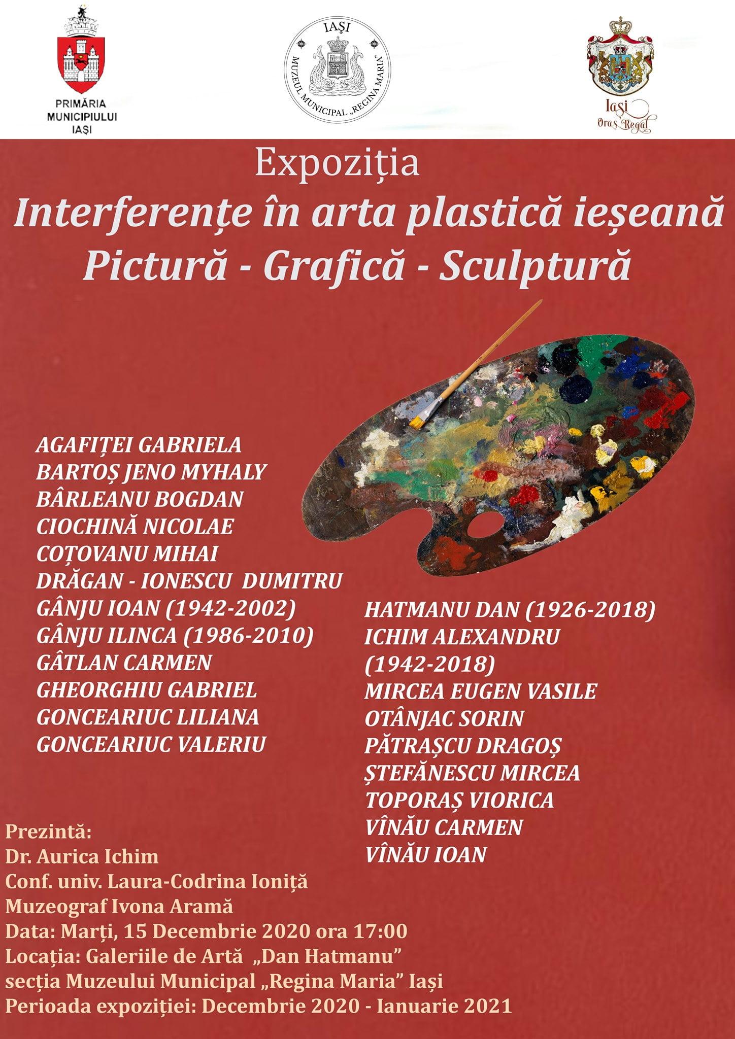 Interferențe în artă plastică ieseanaPictura – Grafică – Sculptură