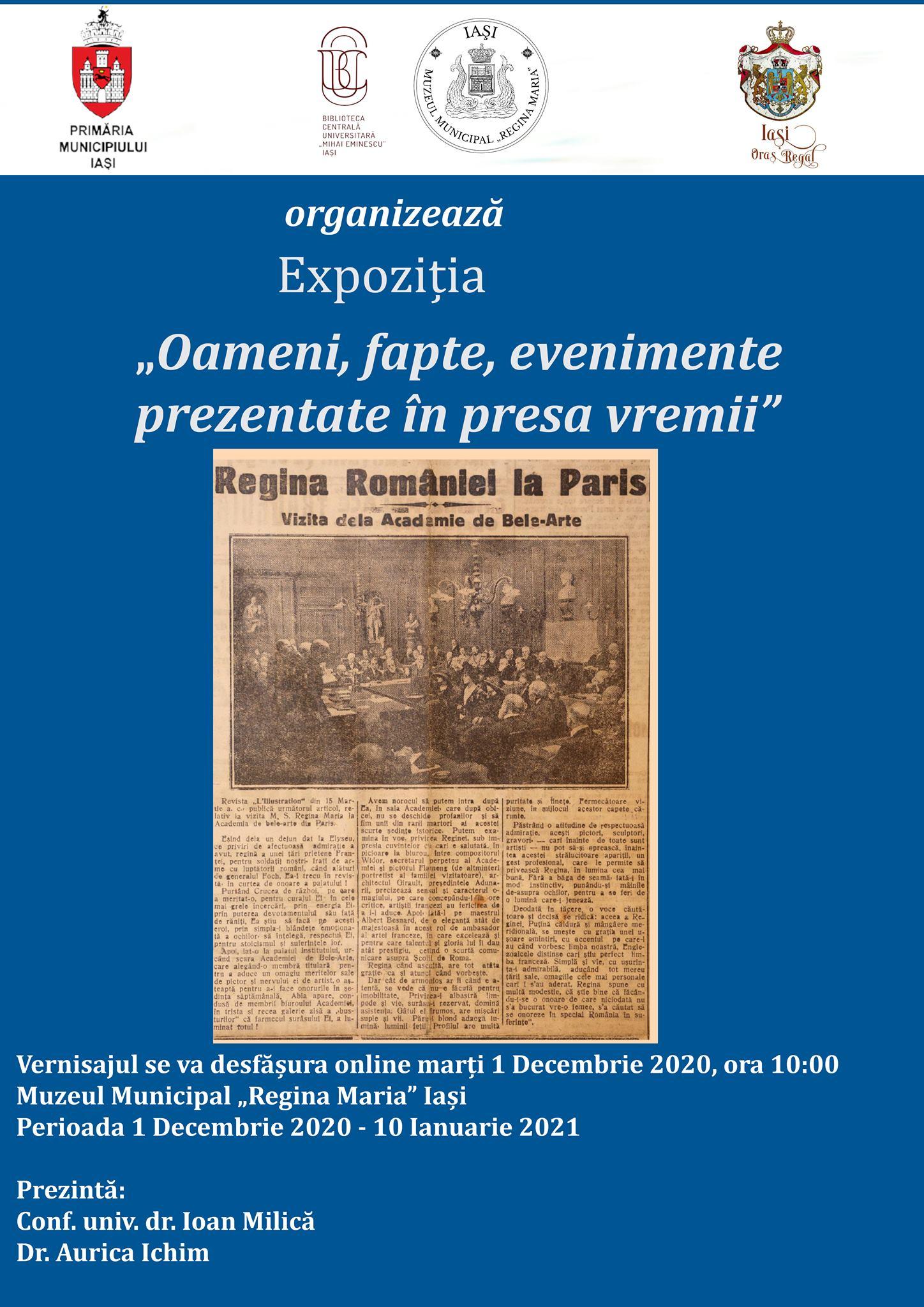 Oameni, fapte, evenimente prezentate în presa vremii