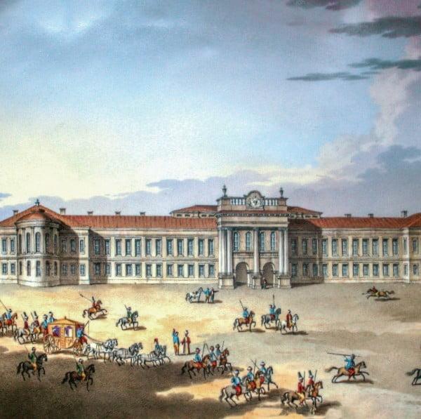 Palatul Domnesc (pictură I. Jakob Schufried 1814)